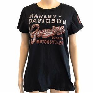 Harley Davidson women's black short sleeve shirt M